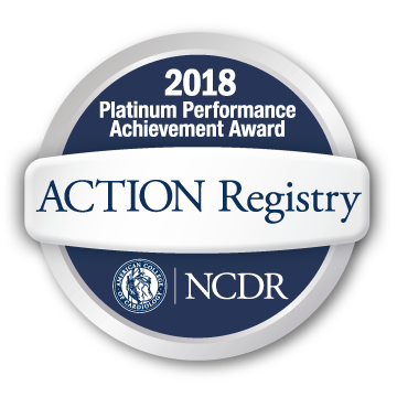 American College of Cardiology's NCDR ACTION Registry Platinum Performance Achievement Award for 2018